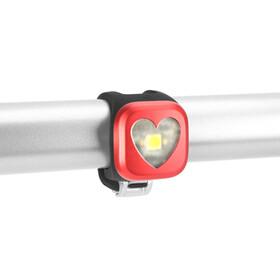 Knog Blinder Framlampa 1 vit LED, Hearts röd